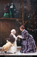 Bill Raymond as Ebenezer Scrooge and Michelle Hendrick as Belle